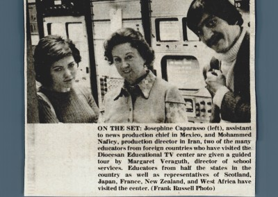 Foreign Visitors tour Diocesan TV System 1972