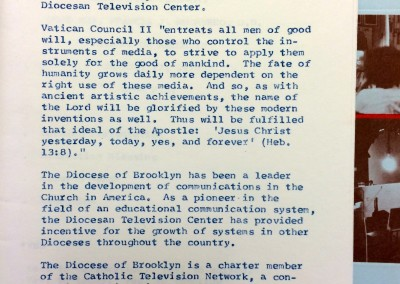 Diocesan TV Center Brochure 1978