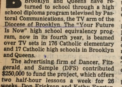 Daily News reports on GED by TV - 1980.