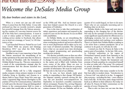 The Tablet Article-Oct. 15, 2011-Welcome the DeSales Media Group