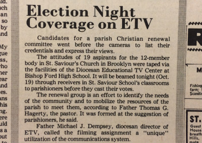 A different type of Election Night coverage - Oct 12, 1967