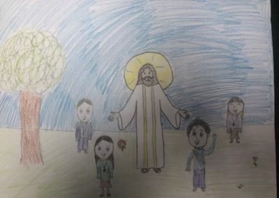 Tablet Jr drawing of Jesus by Wiktoria Pelc 5B