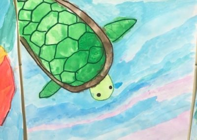 Tablet Jr. drawing of turtle, by Jack Hayes, Gr. 4
