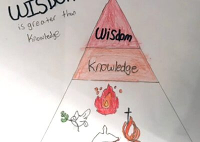 knowledge and wisdom student artwork